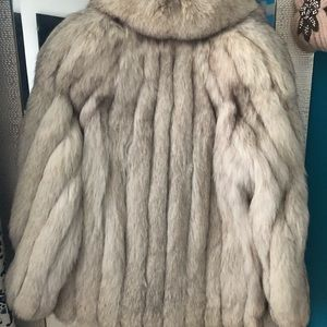 Jackets & Blazers - Authentic Blue Fox Short Fur Coat